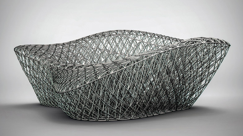 3D printed metal sofa