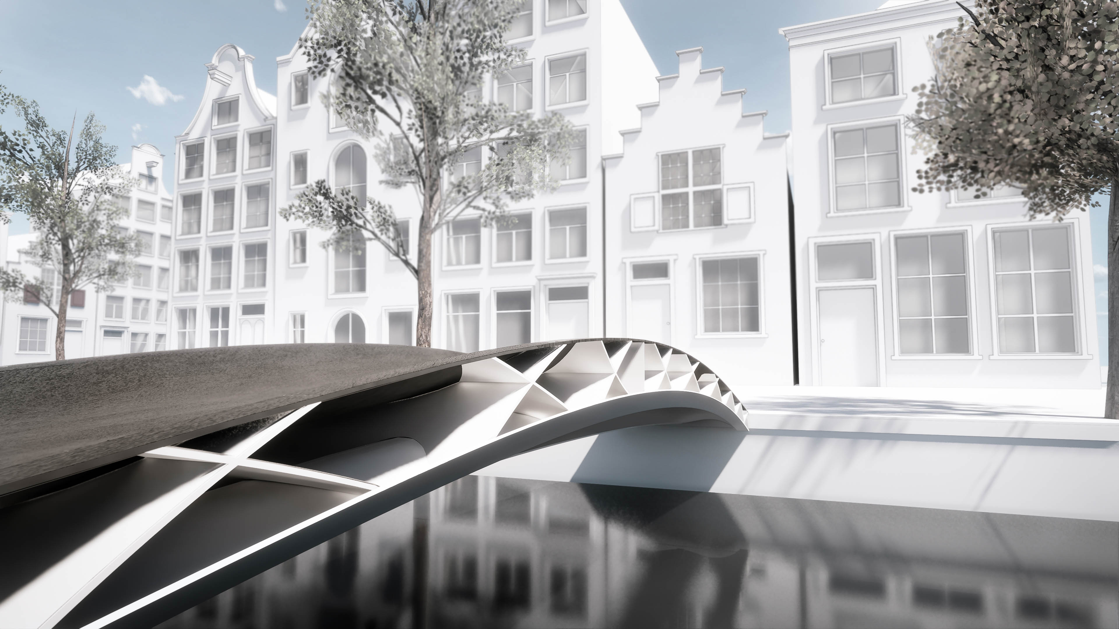 Rendering of what the 3D printed bridge could look like. Image via DSM.